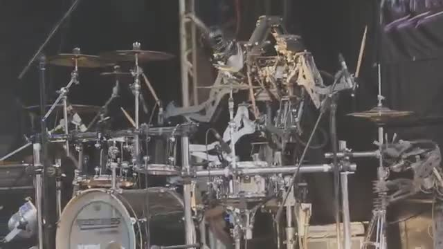 robot rock. .. the band is named CompressorHead
