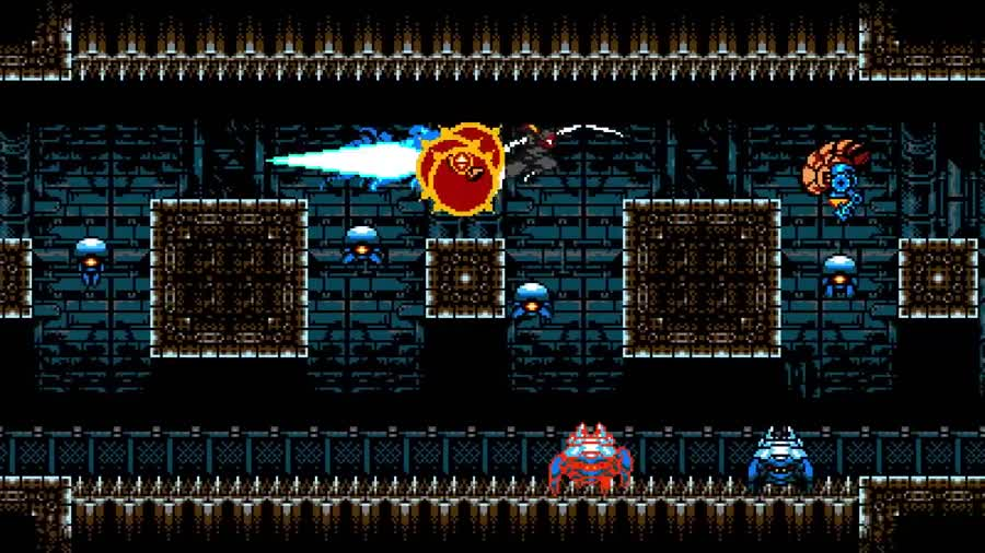 """Cyber Shadow, new upcoming ninja game from Shovel Kht-devs. .. It reminds me of a kind of combination of """"ninja gaiden"""" + """"metroid"""", it looks great"""