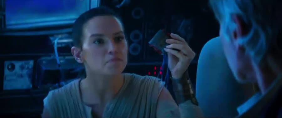 I bypassed reality. .. Anybody got that one where Han gives her a look and then they explode?