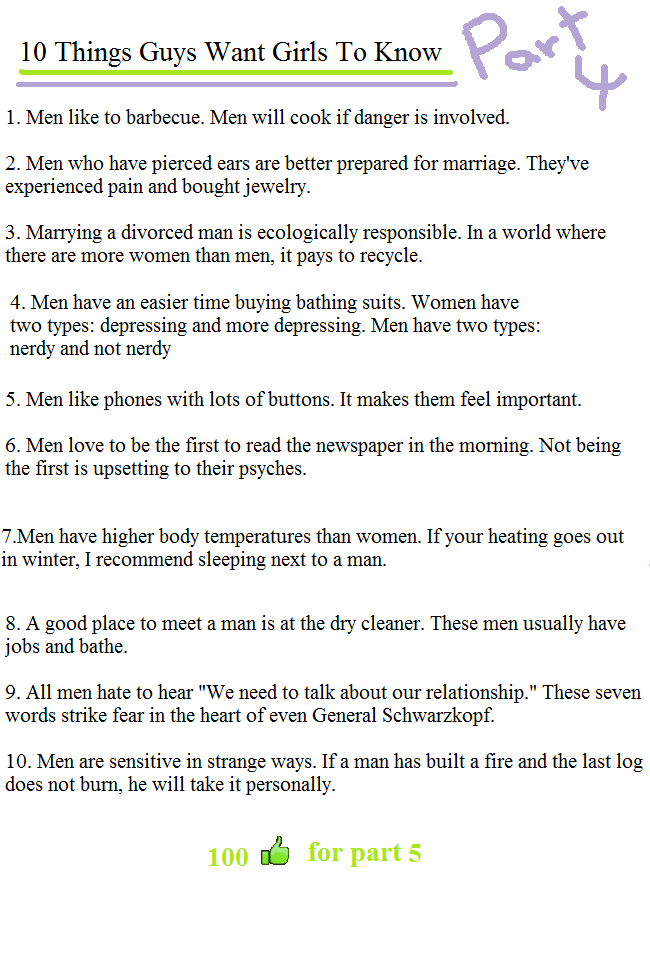 10 things to get a guy