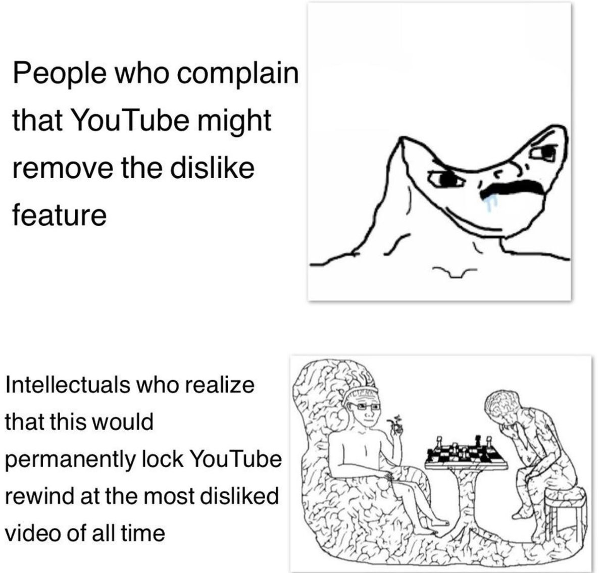 2000 IQ moves here. .. unless the remove dislikes, brainlet