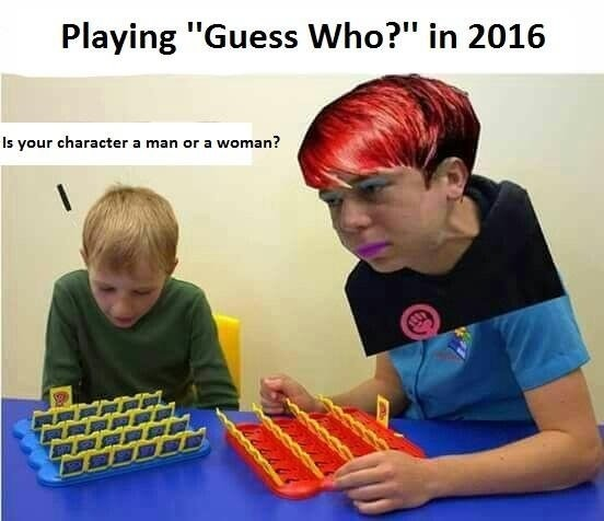 "2016. . Playing ""Guess Who?"" in 2016 Is your character a man or a woman?"