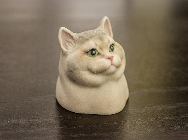 3D Printed Heavy Breathing Cat. A 3D Printed figurine of Heavy Breathing Cat: http://shpws.me/z2z2.. Now make it move.