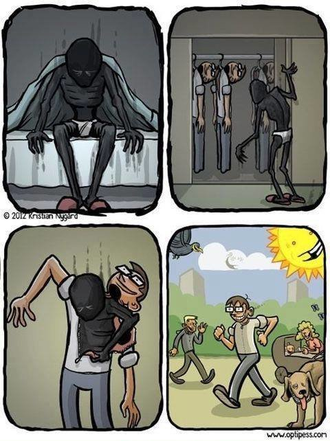 7 comics on depression.. .. /x/ warned me about things like this