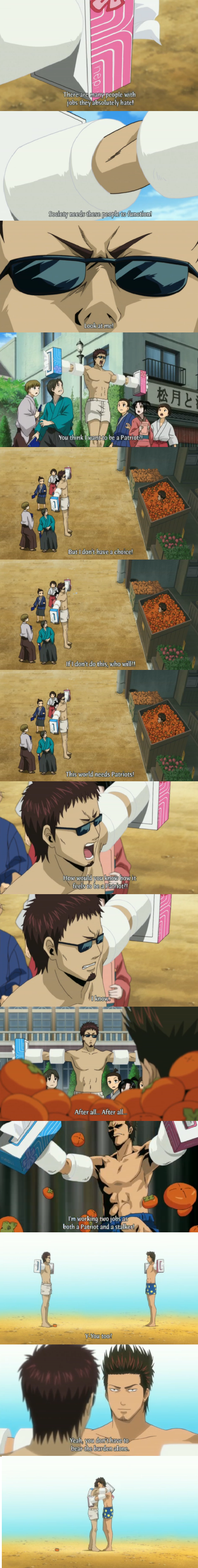 a noble sacrifice. .. I'd put this in context, but it really wouldn't help. Even with context Gintama is full of wat.