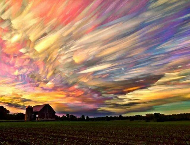 A photo comprised of hundreds of sunsets. .