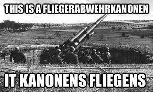 a post 4 ants. Can someone give me the EXACT name of the cannon?? ( it is a anti-aircraft cannon for the ones who can't german....).. Not knowing a Flak 88 when you see one. For shame......