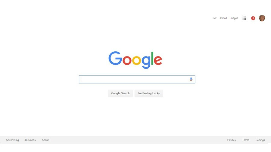 A Rare Sight. Crikey take a look a' that! A normal Google logo, a rare sight these days indeed!. Advertising Business About taik: oogles Ganglia Search I' m Fee
