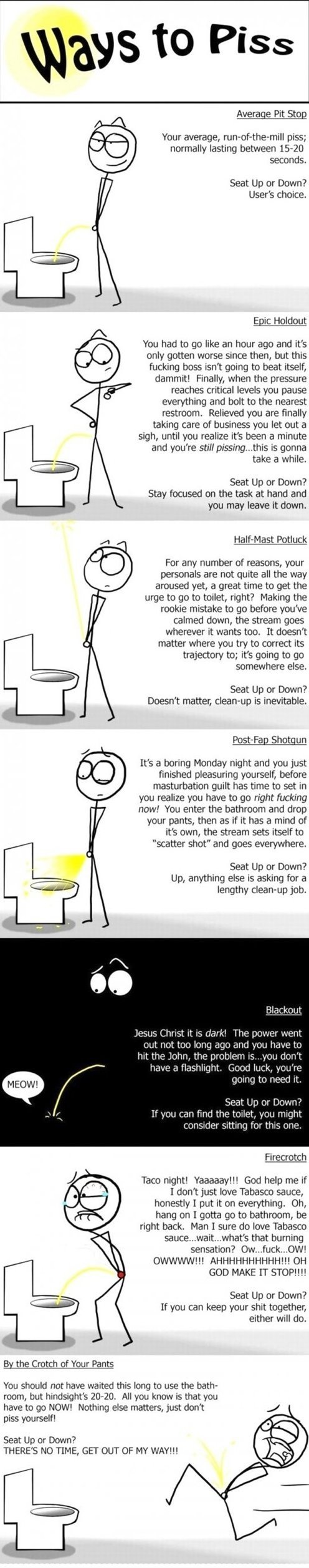 a toilets life and times. pissing 101 this is not my content i found and reposted...yes...i am reposting scum...but i do not think this has been on funnyjunk ye
