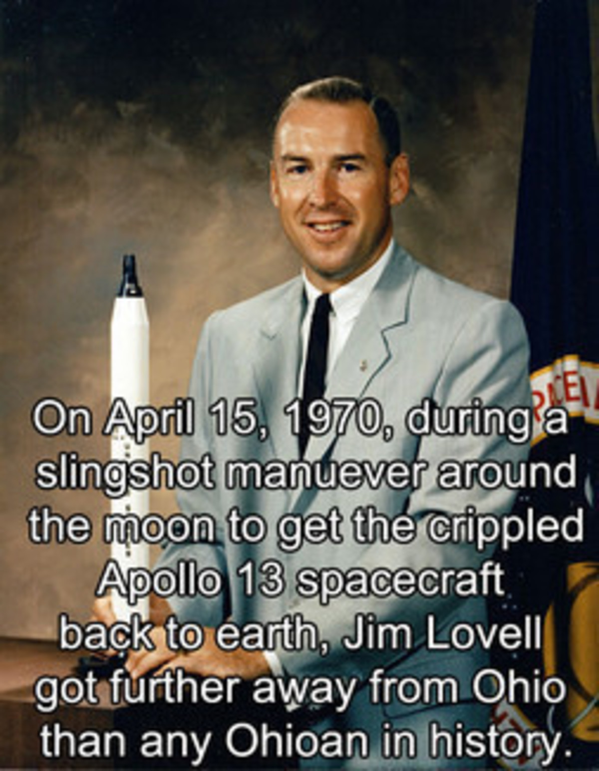 A true legend. .. Toshiro He's the chosen one, the one the managed to escape. God Bless Jim Lovell.