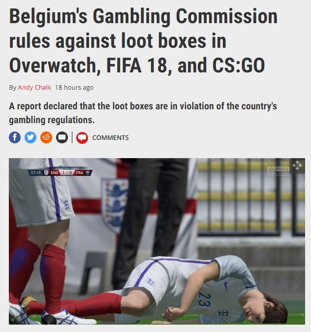 About damn time. join list: VideoGameHumor (1694 subs)Mention Clicks: 566743Msgs Sent: 5336450Mention History. Belgium' s Gambling Commission rules against loot
