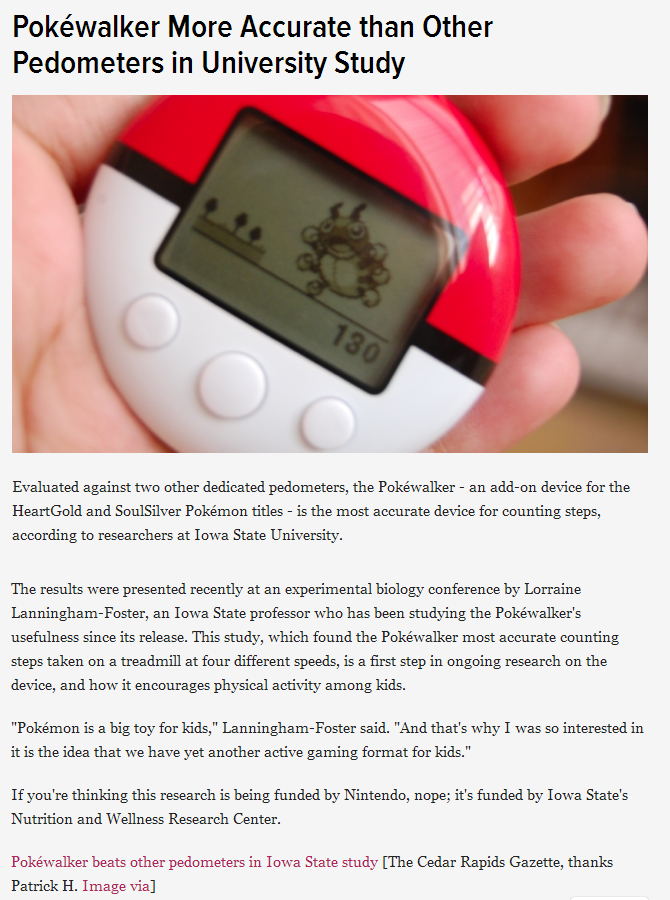 accurate pokewalker. . Yoshiwalker More Accurate than Other Pedometers in University Study Evaluated against two other dedicated Pedometers, the Pokewalker - an