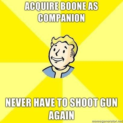 acquire Boone. .. Until you invade Ceaser's camp
