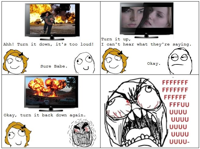 Action Movie Rage. every friggin time. Ehhe Turn it down, it' s too loud! Turn it up, T can' t hear what they' re saying. killall FFCCFF UGUU UGUU UGUU UGUU UGU