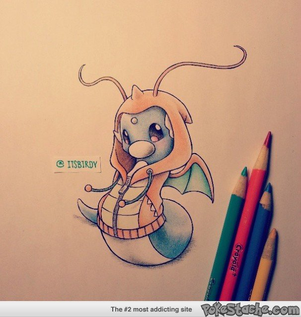 Adorable Dratini. .. These are great