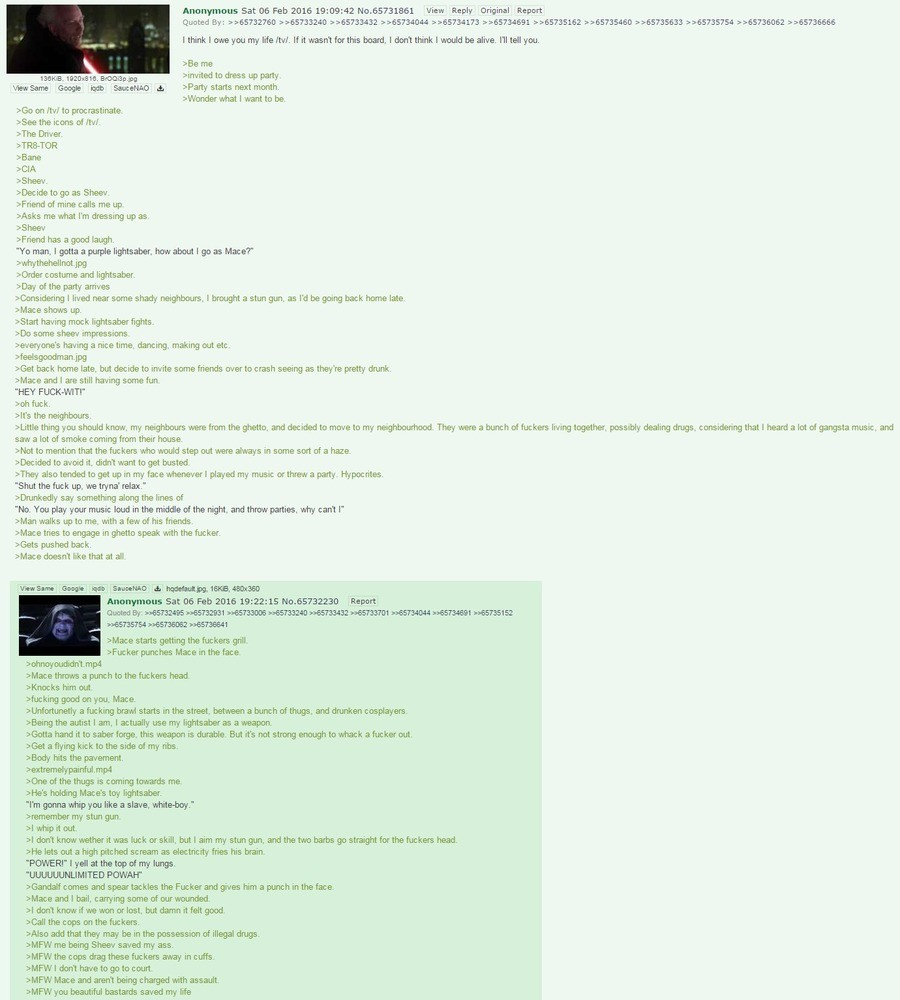 anon becomes a sith lord. . Anonymous Sat as an 2015 19: 09: 42 No mew Reply Report Quoted m : mum 1 tink 1 owe you (twasnt/ board 1 1 would beam/ e l' rfh, me