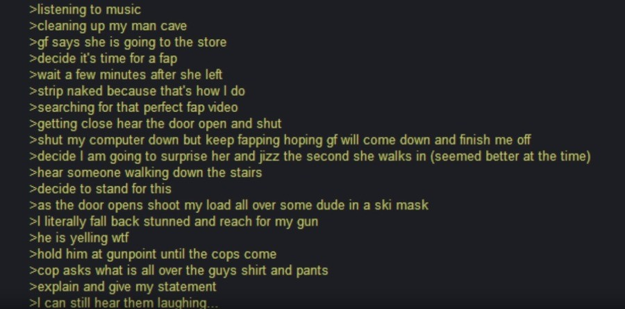 Anon gets Robbed. .. sounds gay