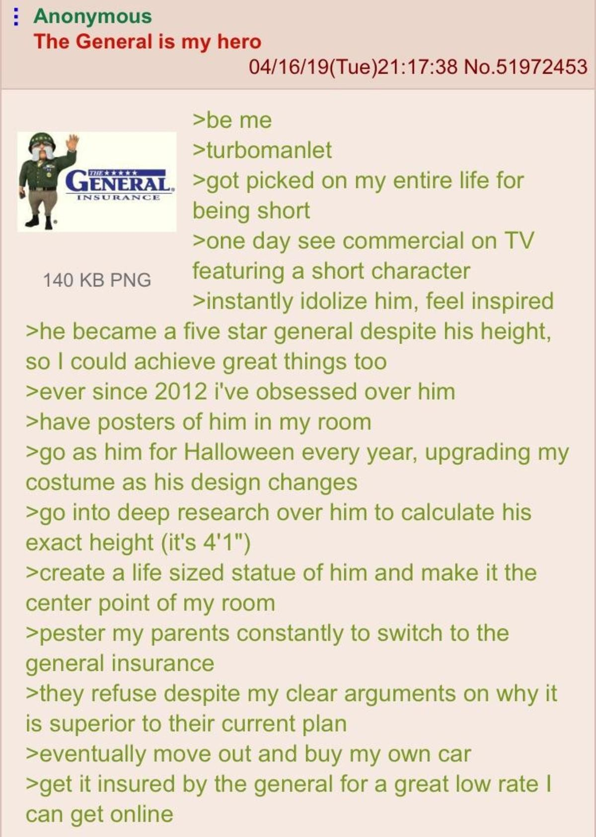 Anon is a Manlet. .. >Not using Geico master race