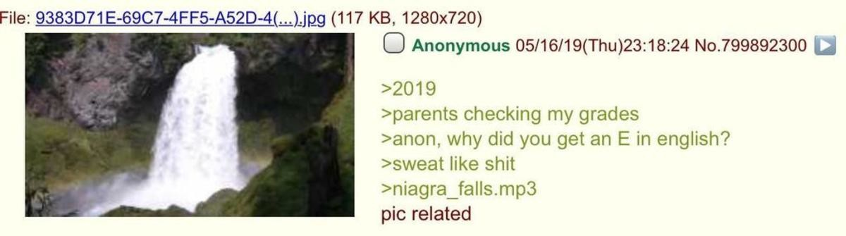 Anon is failing. .. Since when is there an E grade? Is there failing that isn't quite failing?