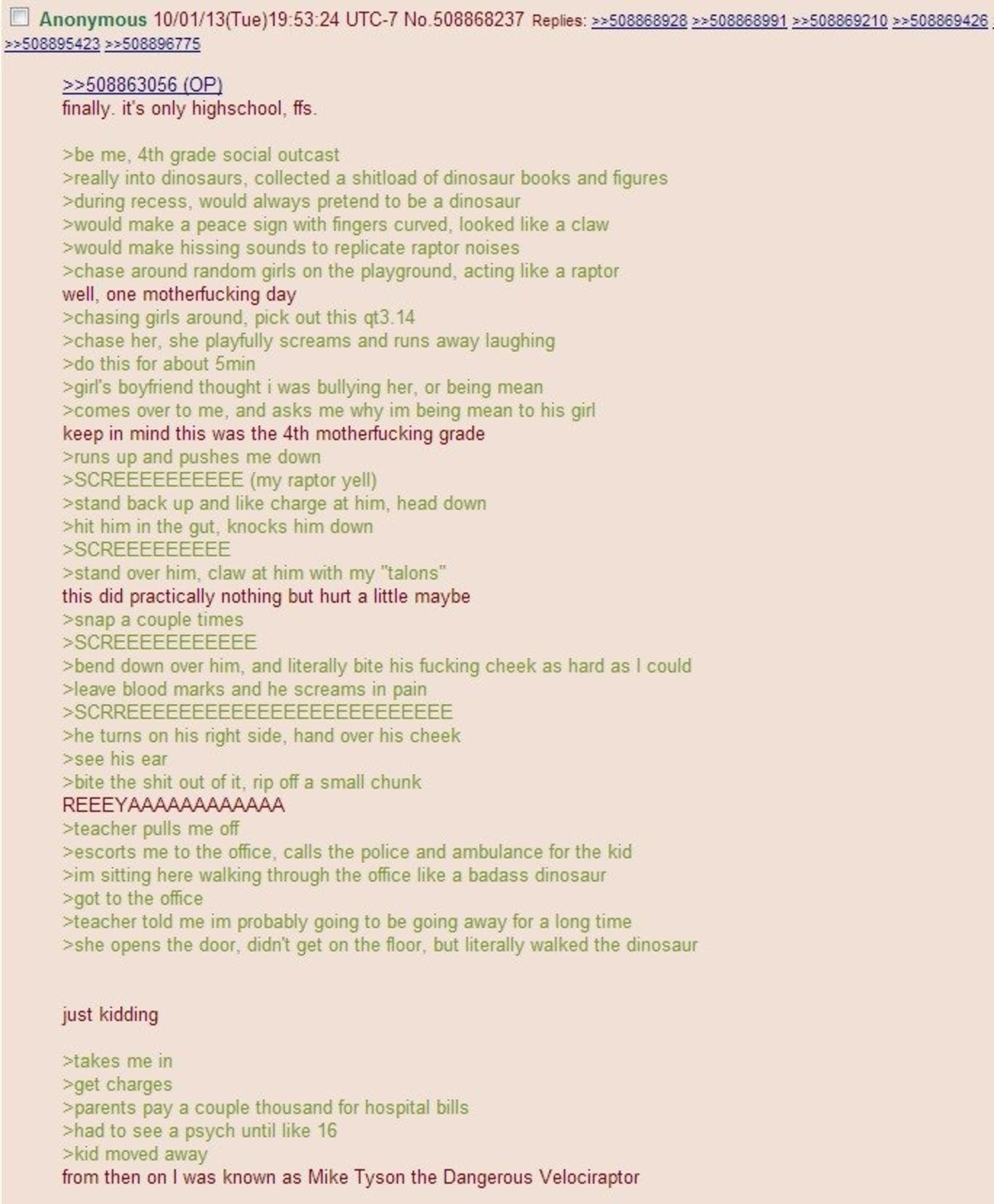 Anon playground fun. join list: Chanoholic (311 subs)Mention History.. Claims to love dinos, doesnt realize its the t-rex that has to fingers on each hand
