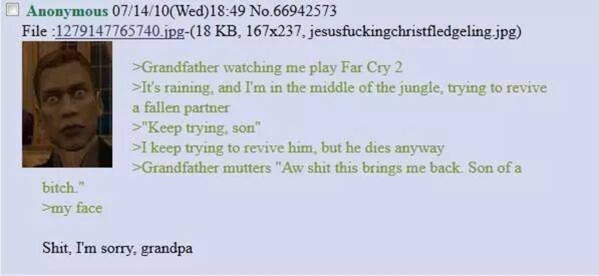 Anon plays Farcry 2. join list: Chanoholic (317 subs)Mention History.. What do you say in such a situation?