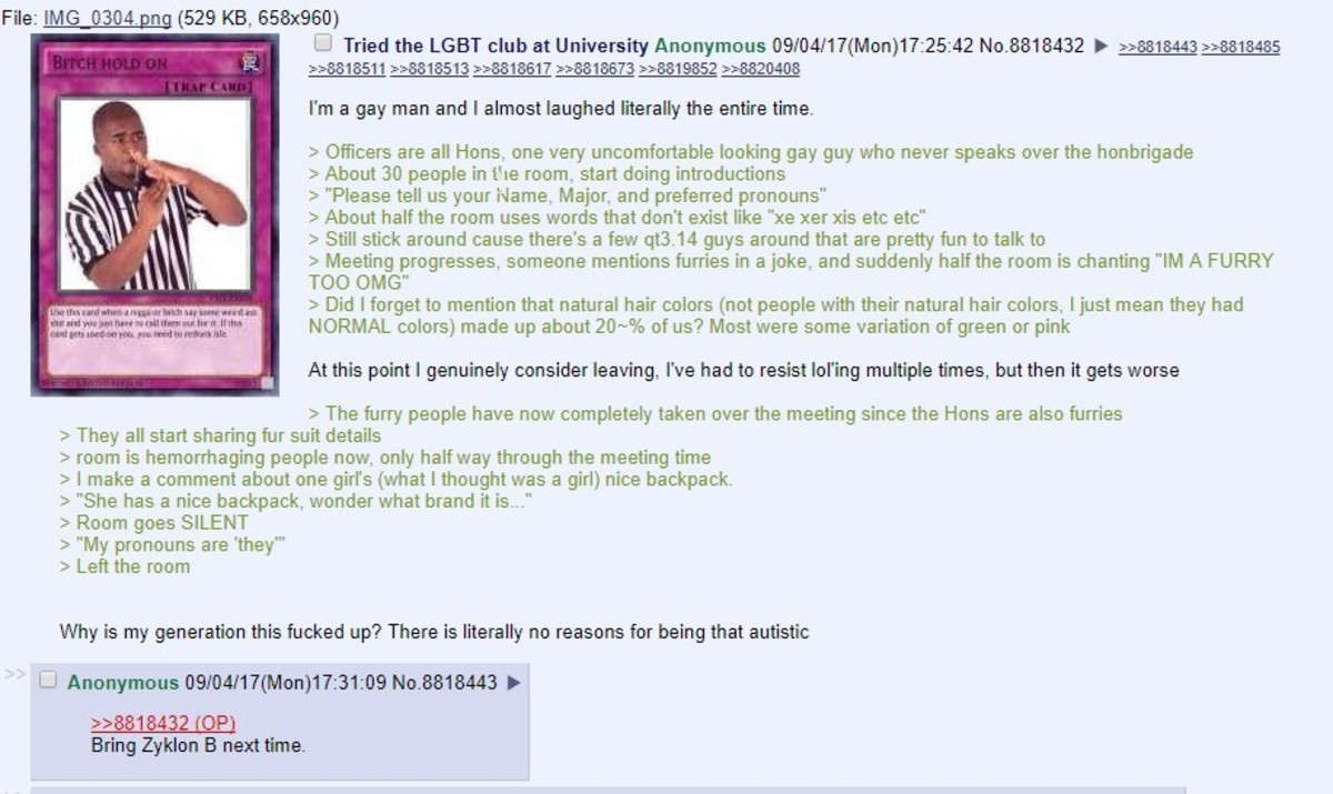 Anon tries the LGBT club. join list: Chanoholic (315 subs)Mention History. File: ting; , (529 KB, 553x933} Li Tried the LEFT club at University Anonymous ' r( M