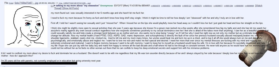 """Anon Wants to His Mom. Because why the not? R-right?. about """"my obsession' Anonymous / -' FIB """"tital reassessed _ 641 excesses? . -rt meow magma my mom found ou"""