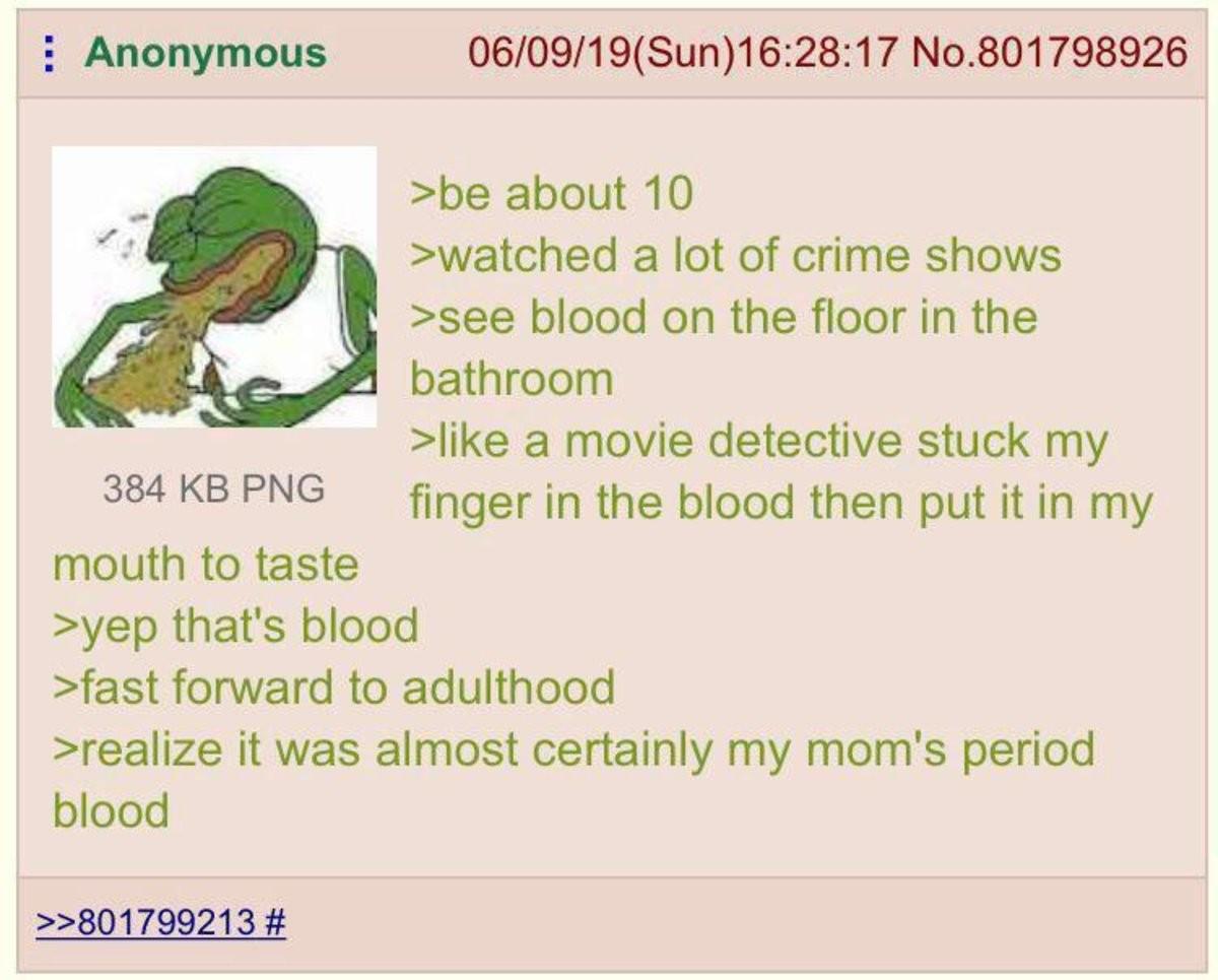 Anon's detective skills. ..