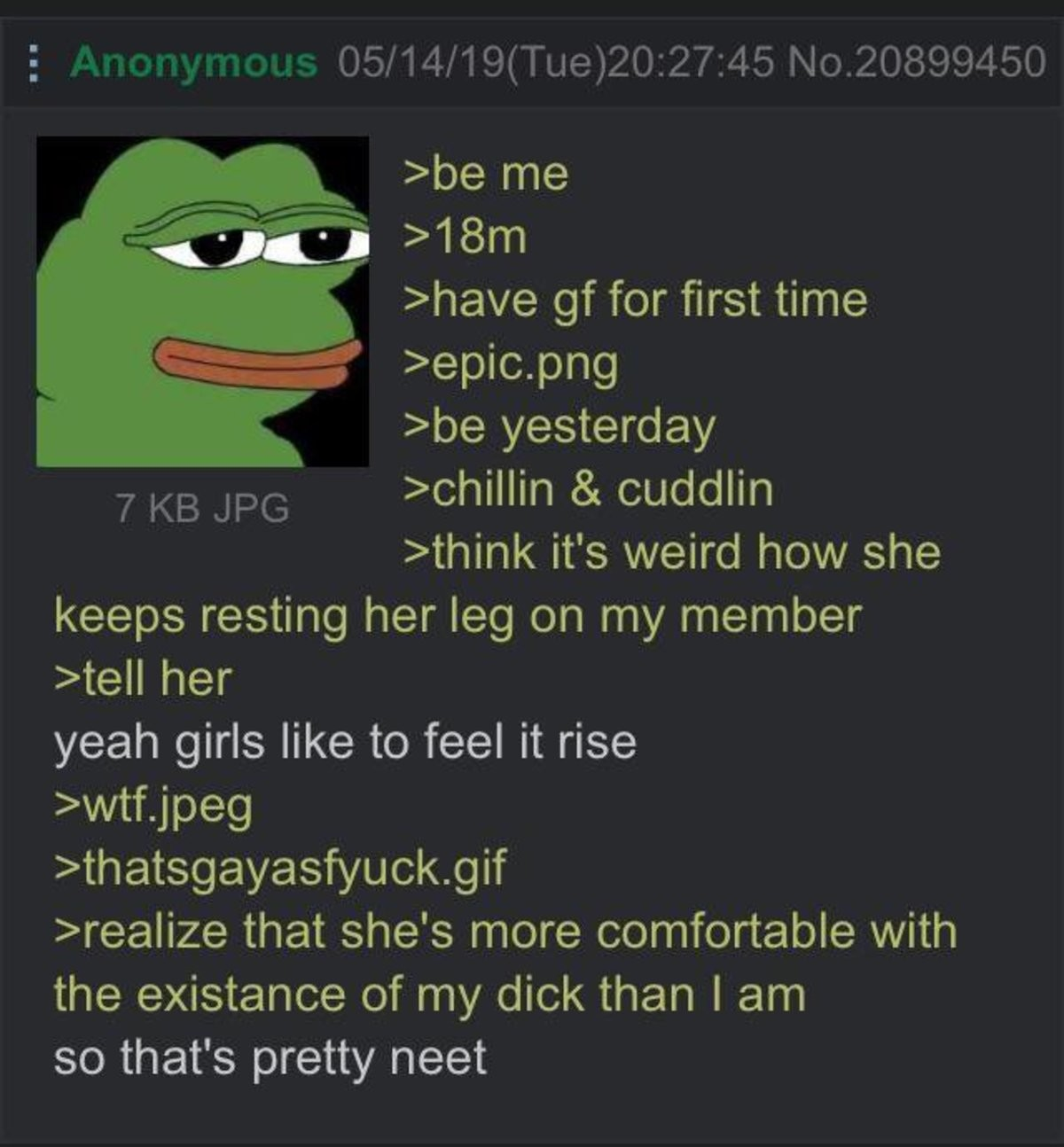 Anon's gf. .. I think his girlfriend might be gay