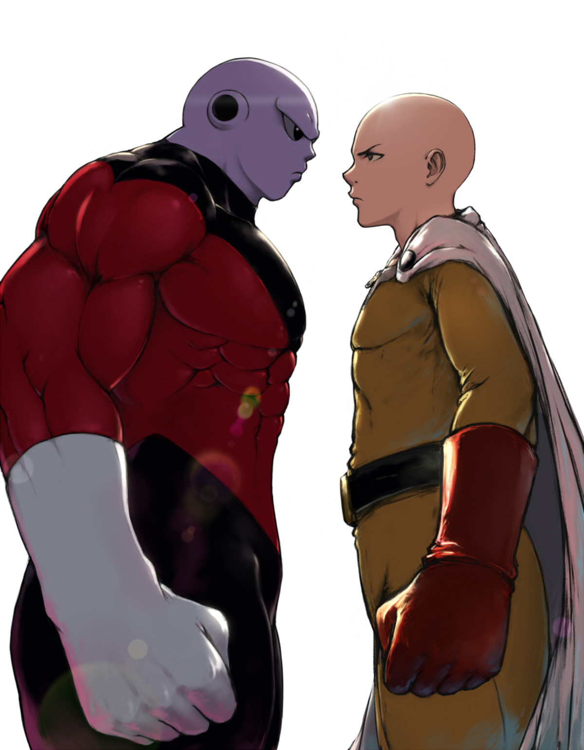 Awesome Art, But Jiren Would Lose. .. Yeeeeah, Saitama would wreck him. Jiren may survive a few of Saitama's hits, but it wouldn't be much more then that.