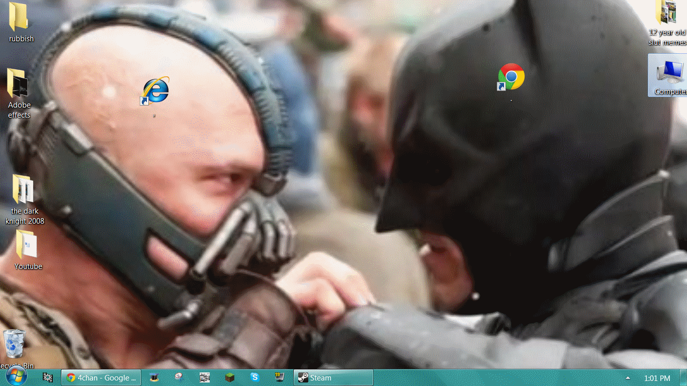 Awesome desktop. .. Oh you think Google is your ally. You merely adopted Google. I was born in it, molded by it. I didn't see the light until I was already a Browser, by then it wa