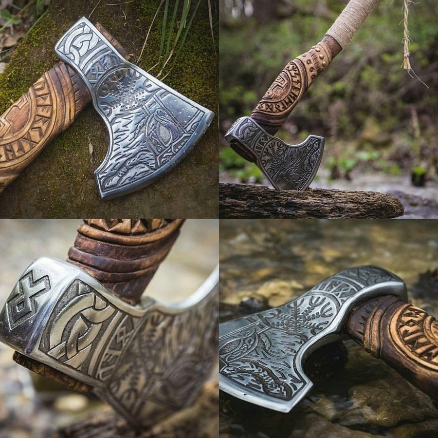 axe. join list: StabbingTime (532 subs)Mention History.. >>#11, https://norsesteel.com/products/berserkervikingaxe and they got more like that