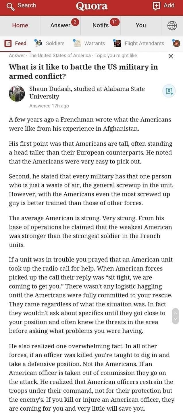 Battling US Military. .. I didn't know the pentagon spent so much time answering questions on Quora