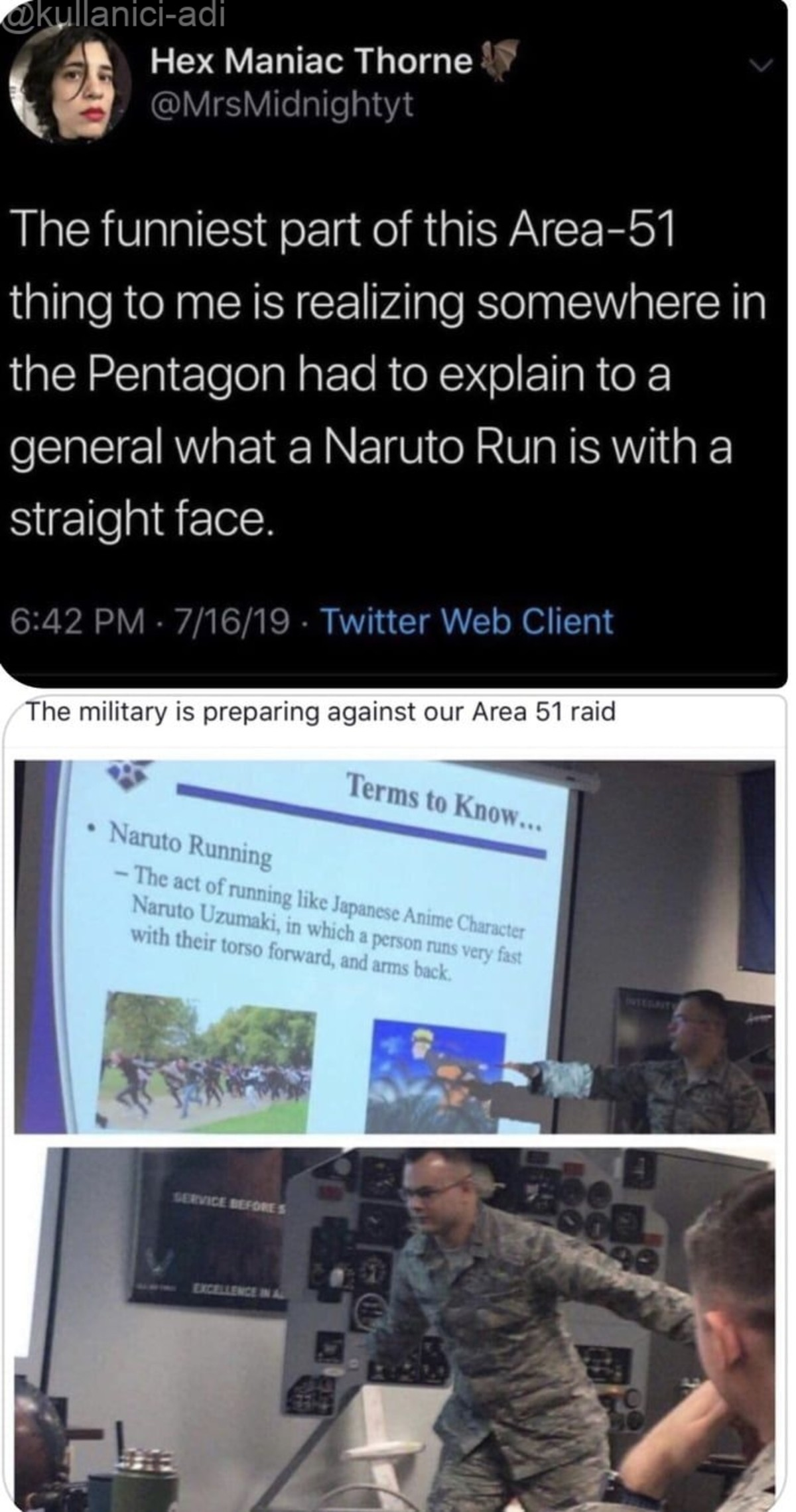 """Best timeline 2:electric boogaloo. .. General: """"So if keeping hands in that position makes them run faster, why our troops are not doing it?"""""""