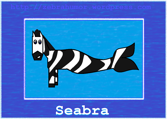 Black, white, and underwater. What do you get when you cross a zebra and a fish?.. What is this creature that has come to be? It looks like a zebra made for the sea. It tossed a coin and made a wish. Now it swims just like a fish. But could th