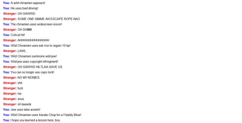 Pwnage Chat Style. lol omegle pwns... GAYYYYYYYYYY