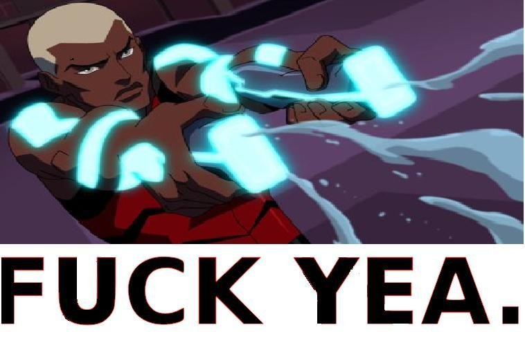 yea black aqualad :D. Woo and he's the leader double standard +10 gets racist comp of black super hero's.