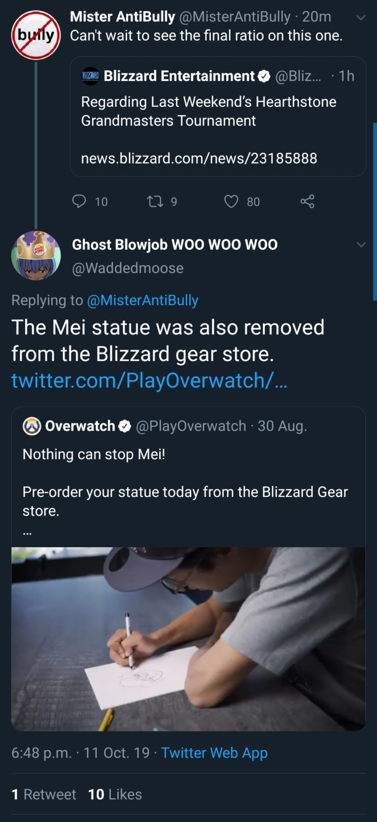 Blizzard removes Mei Statue. .. that just means that making mei a symbol was a success. keep it up with her and bring Zenyatta into it as well