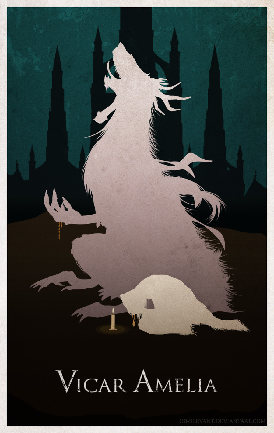 Bloodborne Comp: Vicar Amelia (UPDATED). Loudly she prayed, clutching the relic in her hands as the world outside was seized in an unending nightmare. She thoug
