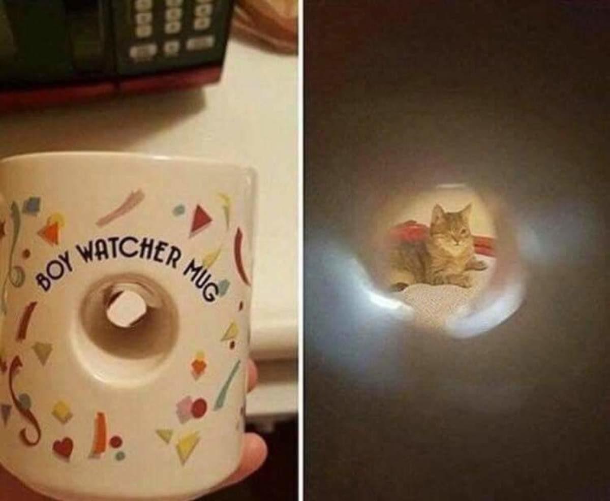 boy watcher mug. ..