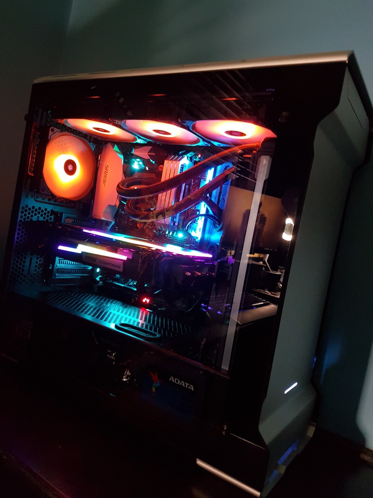 Build complete; welcome the New Hotness!. After almost a year and a half of waiting I present to you my new computer tasty rgb goodness find the full build here