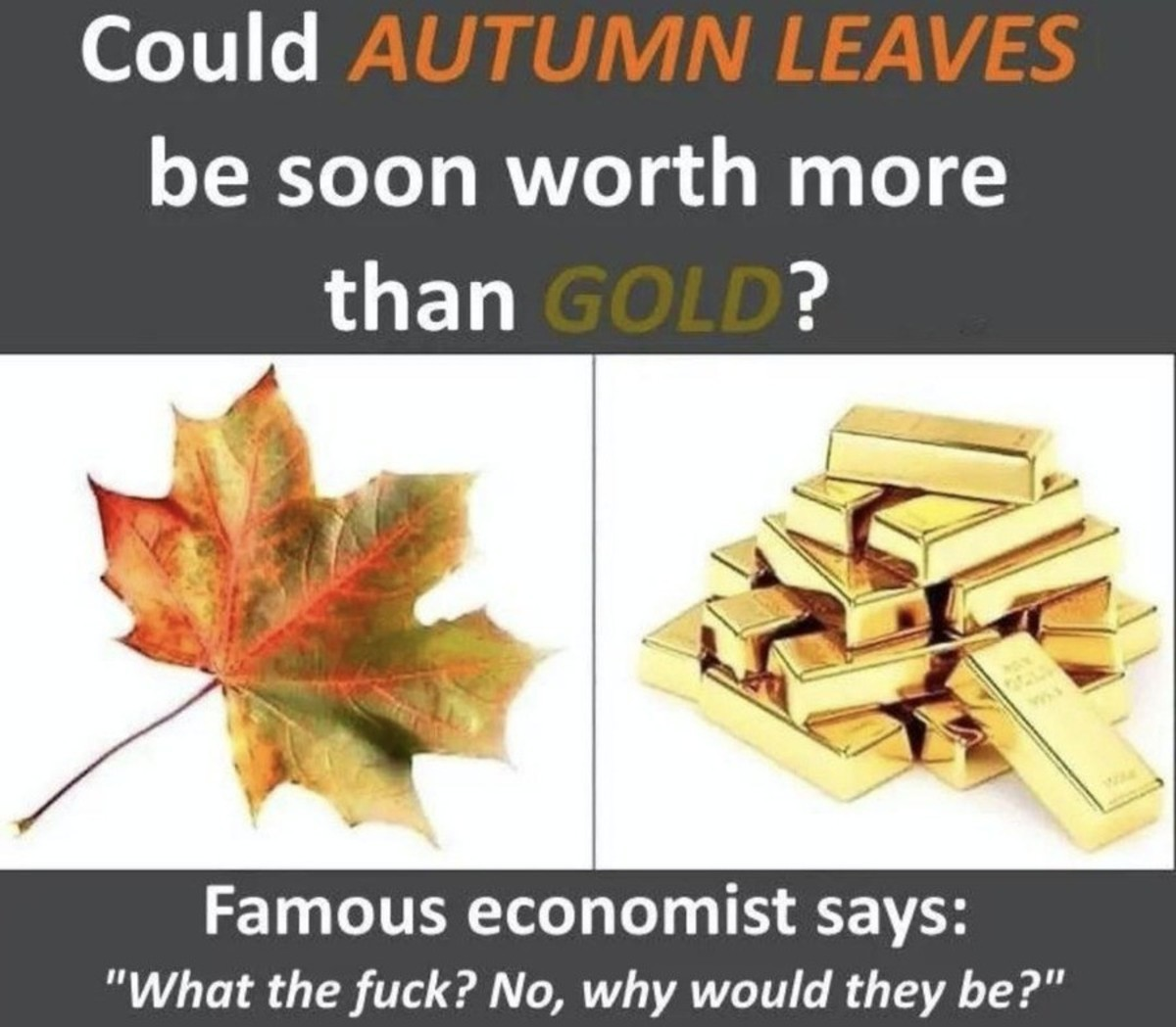 but they may soon be worth more than the dollar. .. I love my leaves, I keep them near my jewelry anyway