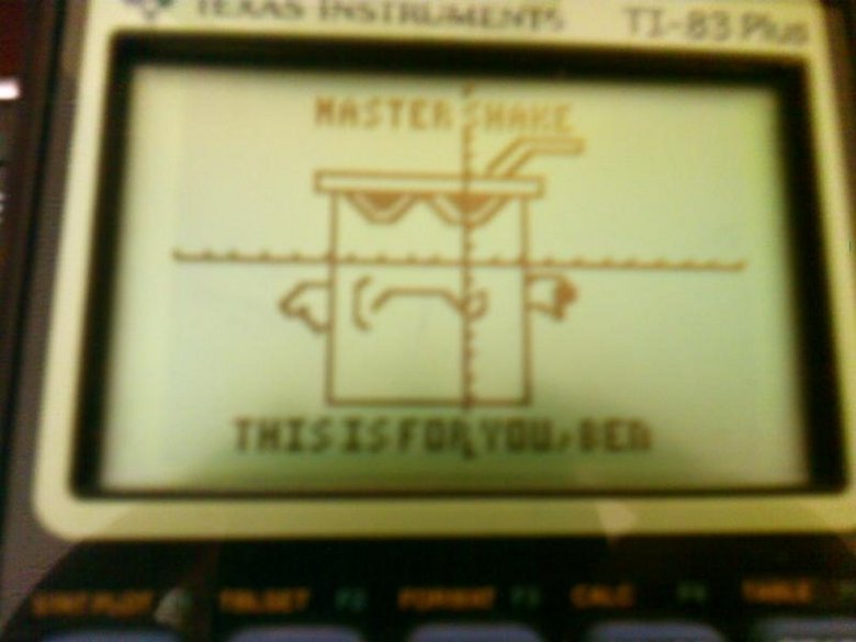 Calculator Art. I drew this with the graphing function on my calculator I will take any requests for more if you would like. don't forget to thumb!.