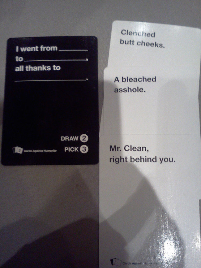Humanity Answers Funny Junk Cards Against Humanity
