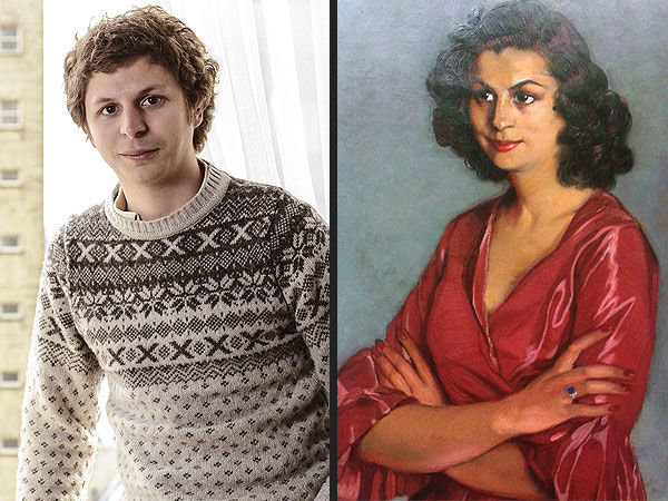 "Celebrity Time Travelers. 1. Michael Cera The ""Juno"" actor bears a striking resemblance to the woman in this 1940 painting of Dona Carmen Arconda by Spanish pai"