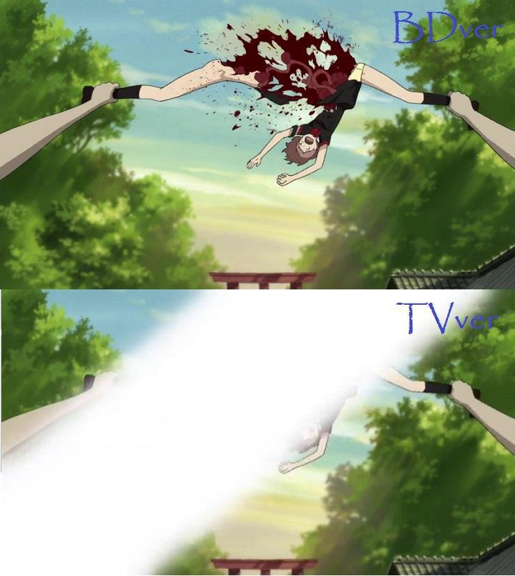 Censoring lvl : television. WTF IS THIS !!! source : Blood c.