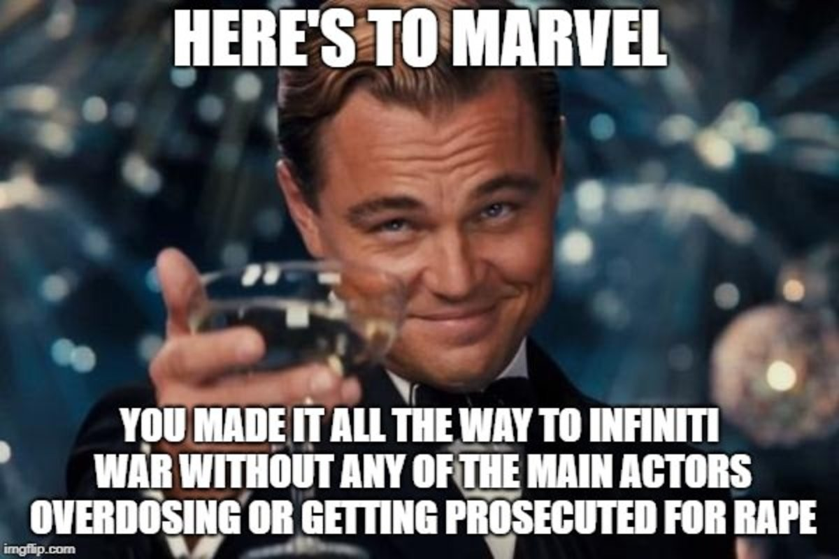 """Challenge complete. join list: MarvelStuff (214 subs)Mention History. VIII! MARE tr """" ENE WM """" INIFINITE. Is not taking drugs and not committing sexual harassment really considered an achievement? That makes me kind of sad."""
