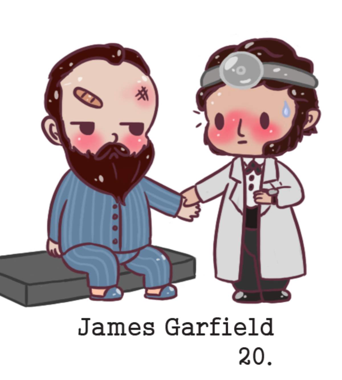 chibi James Garfield. He was shot and probably could of lived but the Doctor didn't believe in germ theory and basically killed him. The first and foremost thin