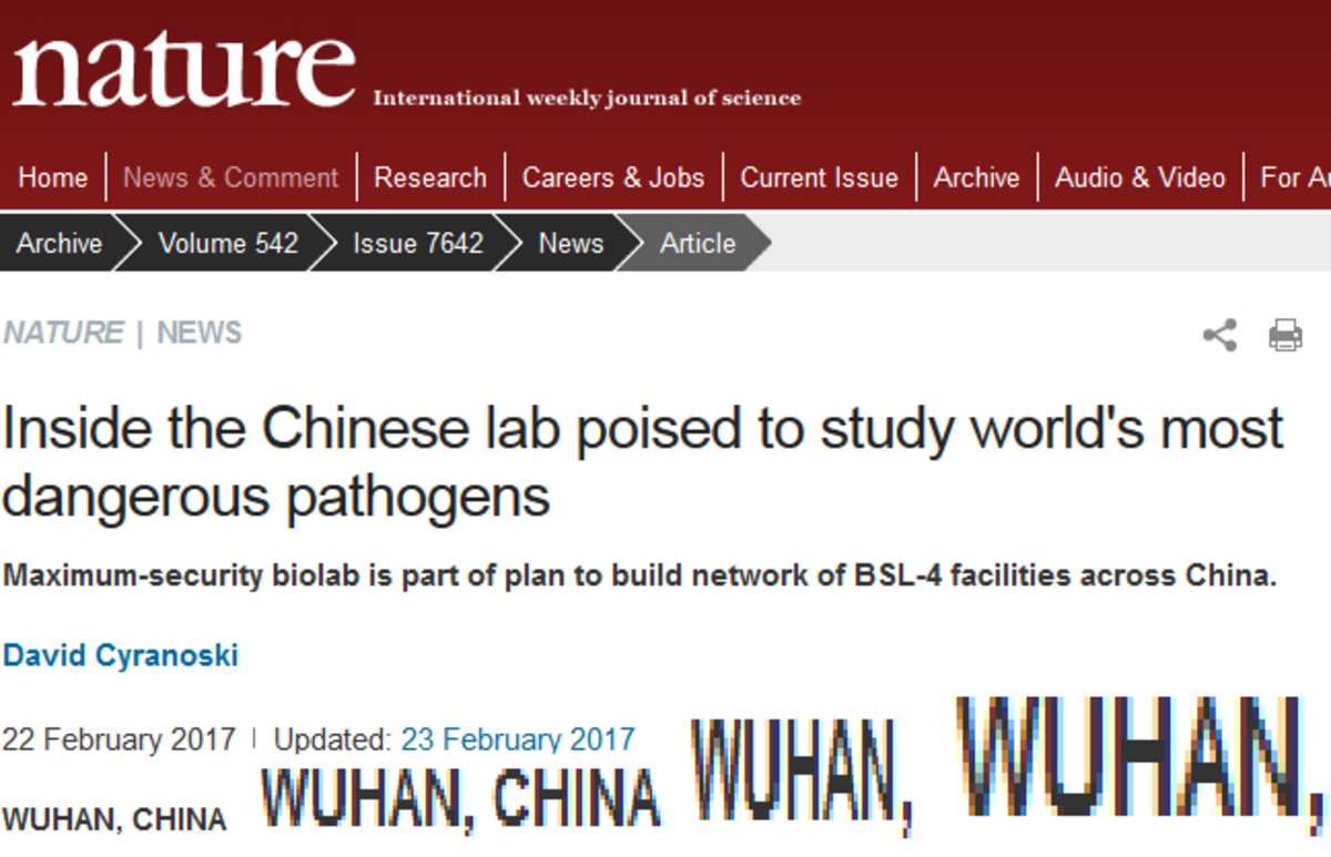 China Hummmmmmmmmmmmmmmm. Did someone forget to wash their hands?.. It could be a bio-leak, or it could be the soup that those chinks are apparently eating.