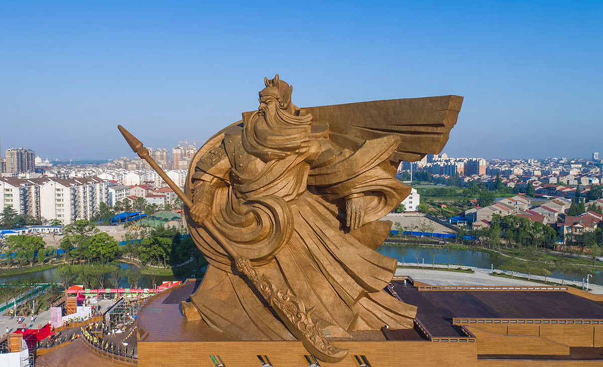 China Unveils 1,320-Ton God Of War Statue. China has constructed a statue of Guan Yu, a famous general in Chinese history. The statue has just been unveiled in